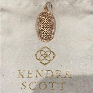 Auth KENDRA SCOTT Ella Rose Gold Earring